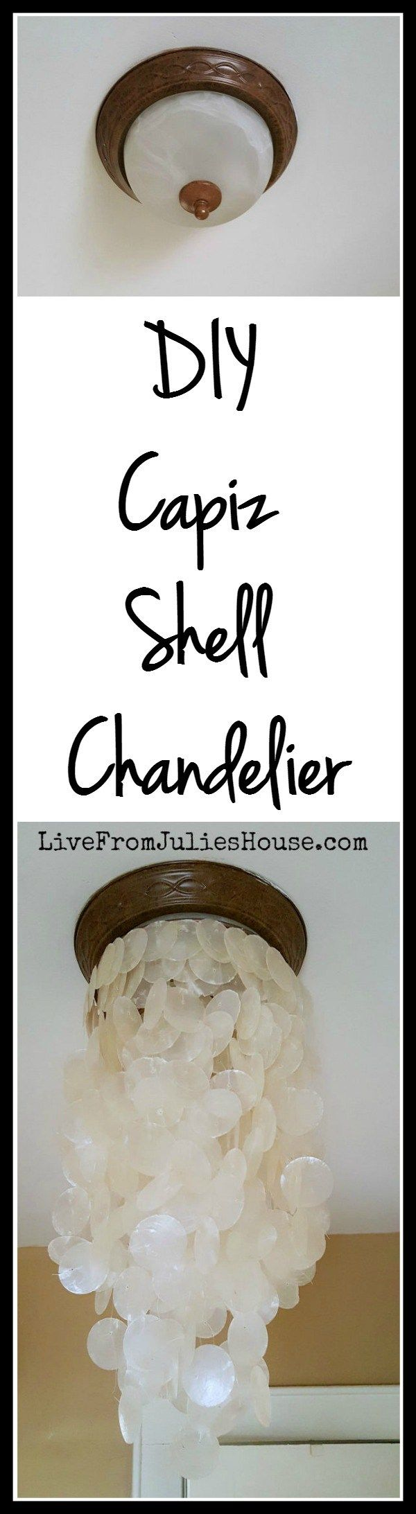 diy capiz shell chandelier - Capiz Shell Chandelier