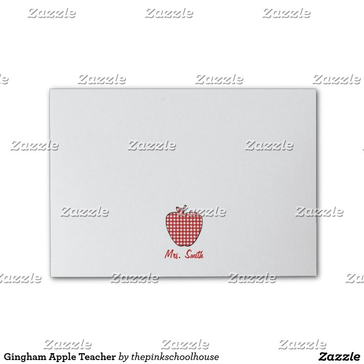 Gingham Apple Teacher Sticky Notes on Zazzle @zazzle #sticky #notes #post-it #gift #idea #stationery #office #school #supplies #pencil #paper #pad #pen #writing #write #memory #idea #jot #down #fun #cool #accessory