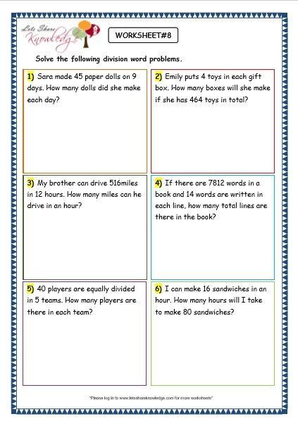 grade 3 maths worksheets division 6 9 division word. Black Bedroom Furniture Sets. Home Design Ideas