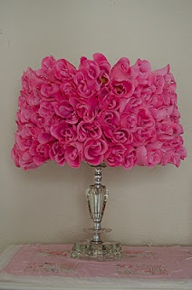 DIY rose lampshade