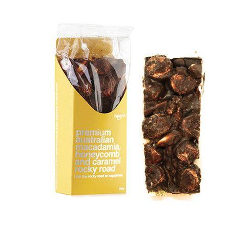 macadamia, honeycomb & caramel rocky road - Happy Lab