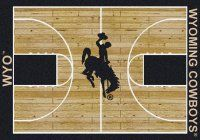 Wyoming Cowboys Basketball Home Court Nylon Area Rug