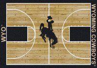 Wyoming Cowboys Basketball Home Court Nylon Area Rug