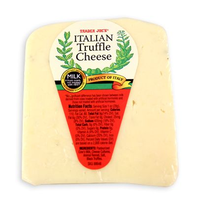 Kelly Runs For Food tried this Italian Truffle Cheese, and you should too. It's also from Trader Joe's!