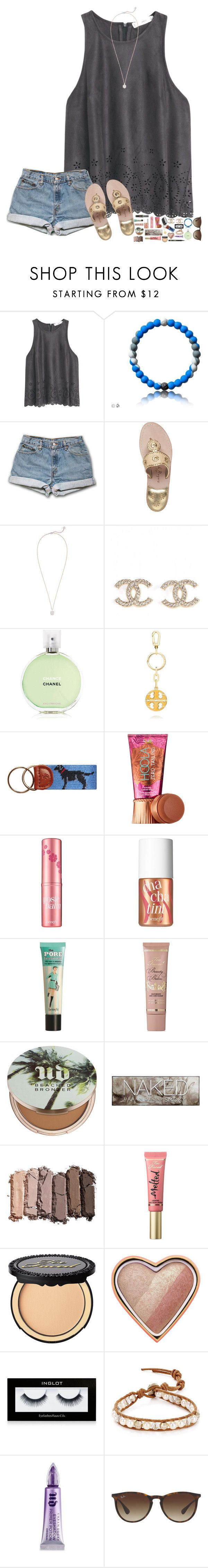 """""""Please read the description! I need yall's advice!"""" by hopemarlee ❤ liked on Polyvore featuring MANGO, Jack Rogers, Kendra Scott, Chanel, Tory Burch, Benefit, Too Faced Cosmetics, Urban Decay, Inglot and Chan Luu"""