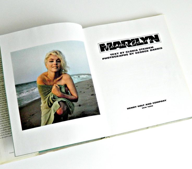 Marilyn Monroe Biography by Gloria Steinem. Vintage Coffee Table Book. Color Photographs by George Barris. by retrogroovie on Etsy