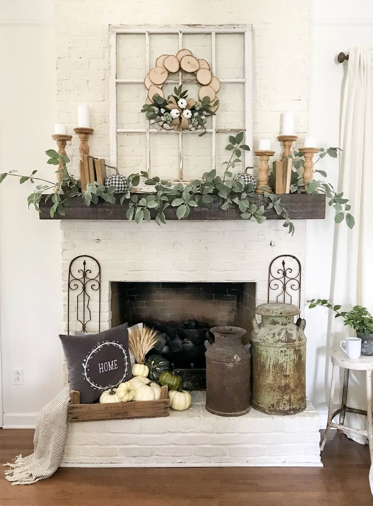 Styling Tips And Tricks On How To Decorate A Fireplace Mantel Decor Decoration D Farmhouse Fireplace Mantels Fireplace Mantel Decor Fall Mantel Decorations
