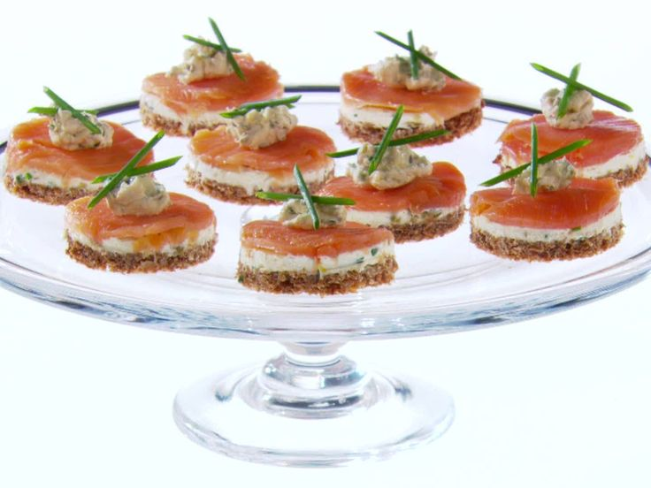 Open Face Smoked Salmon Finger Sandwiches with Herbed Horseradish Cream Cheese