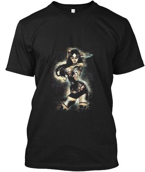 Dark Shooter Black T-Shirt Front
