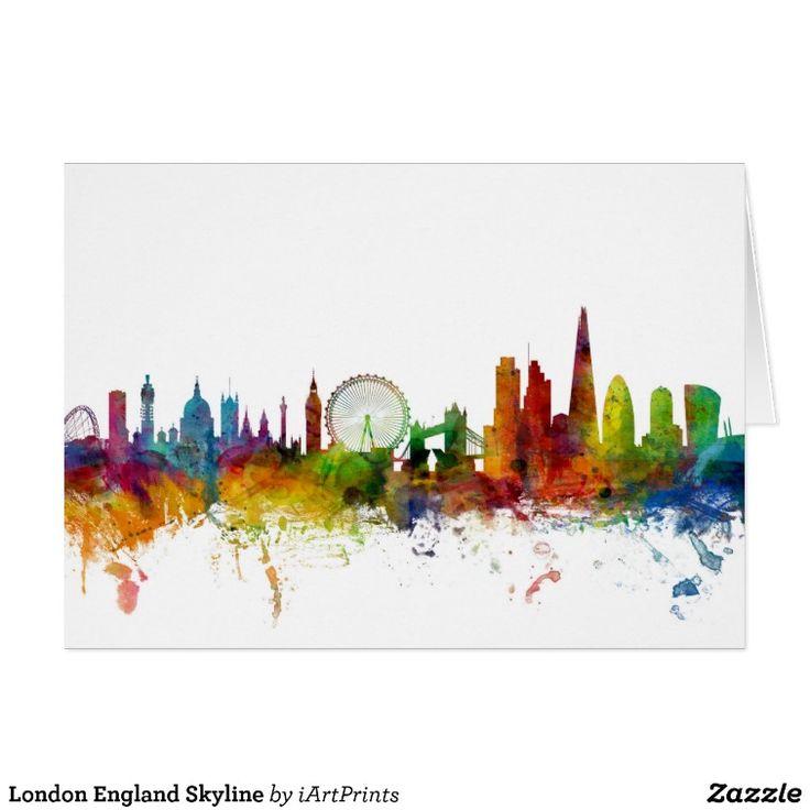 London England Skyline Greeting Card