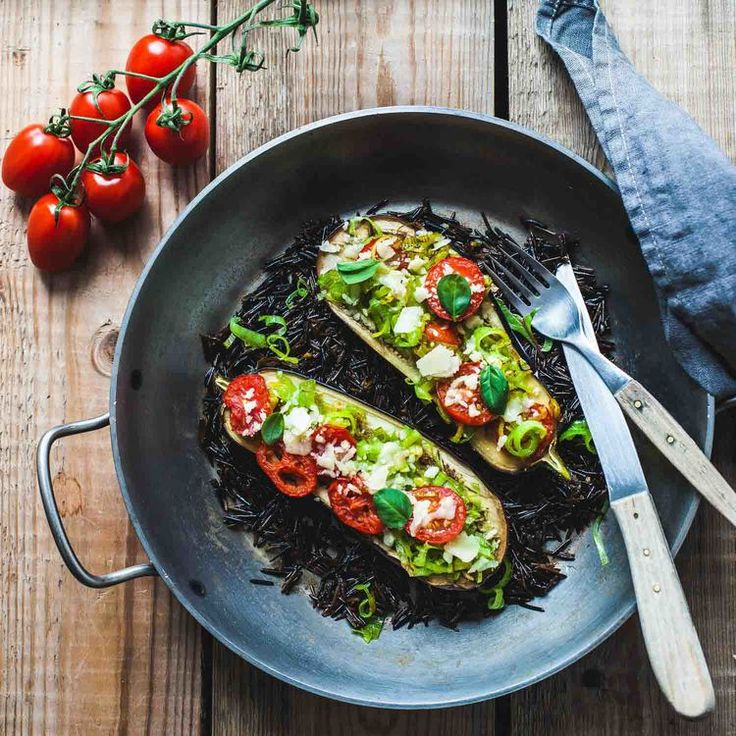 Baked Aubergine with Leek and Tomato-www.madelinelu.com: