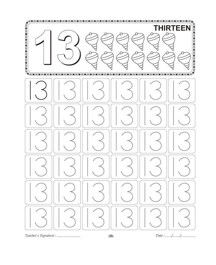 37 best 13 rakamı çalışma örnekleri images on Pinterest