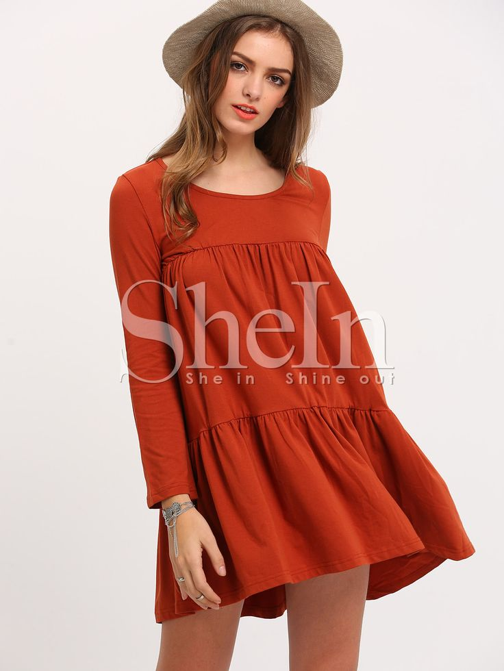 Shop Orange Long Sleeve Casual Dress online. SheIn offers Orange Long Sleeve Casual Dress & more to fit your fashionable needs.
