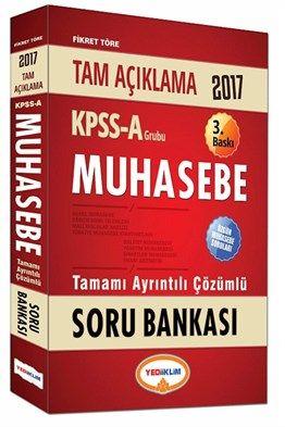 2017 KPSS A Grubu Muhasebe Tamamı Ayrıntılı Çözümlü Soru Bankası Yediiklim Yayınları