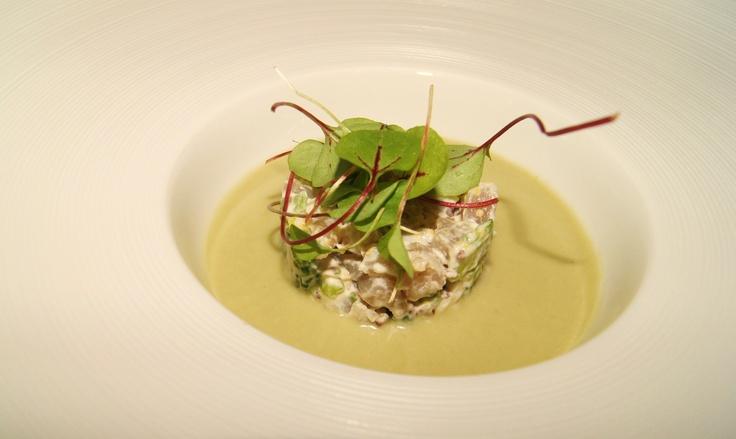 Tuna Tartar with Green Gazpacho