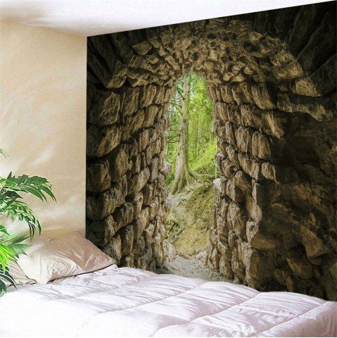 DUN Cave Print Polyester Throw Wall Tapestry W91 INCH * L71 INCH