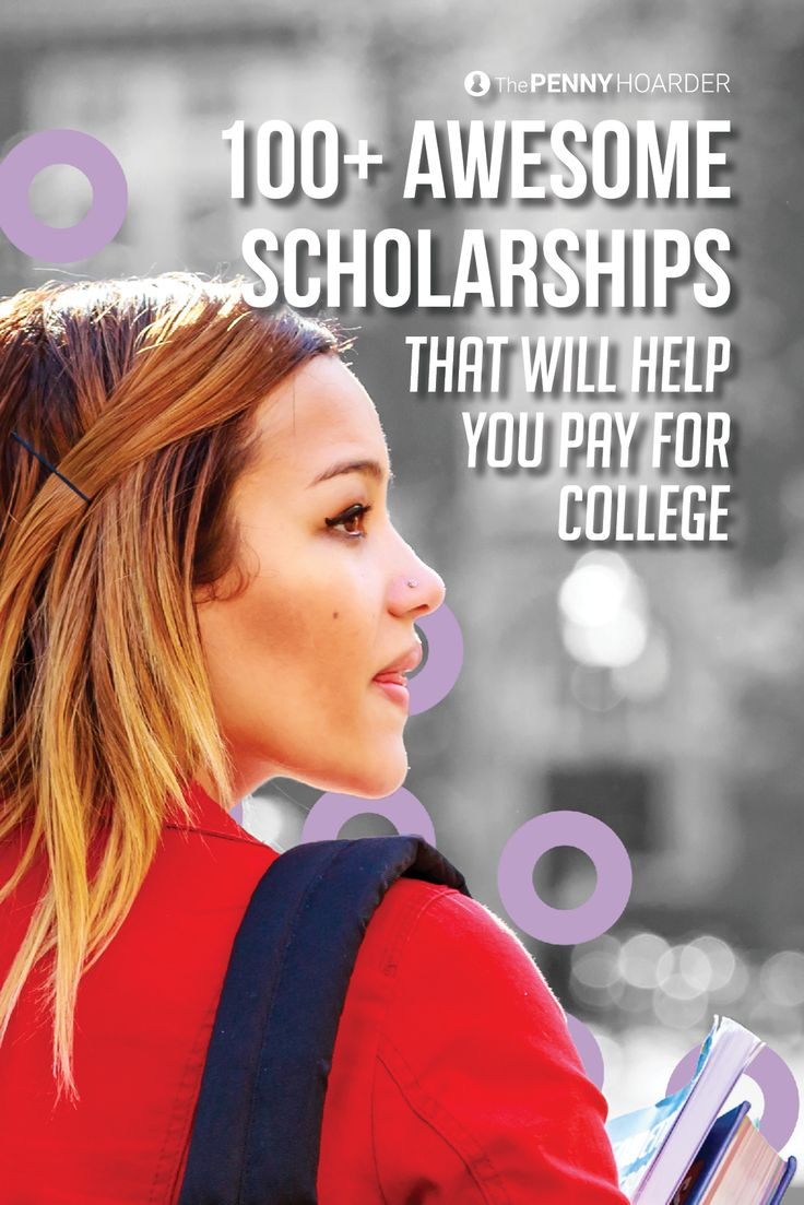 Worried about how to pay for college or how to graduate without a ton of student loans? Applying for scholarships is one way to save money on costs. To get you started, here's a list of 100 college scholarships. Good luck!