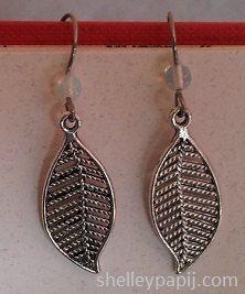 Moonstone Leaf Hypoallergenic Earrings by ShelleyPapij on Etsy