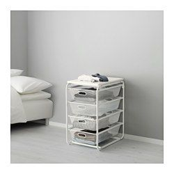 IKEA - ALGOT, Frame with 4 mesh baskets/top shelf, The parts in the ALGOT series can be combined in many different ways and easily adapted to your needs and space.When you complete your ALGOT frame with baskets from the same series you have a smart storage solution that fits anywhere in your home.Can also be used in bathrooms and other damp indoor areas.With ALGOT top shelf, you can create a practical extra work surface on all frames in the same series.Also stands steady on an uneven floor…