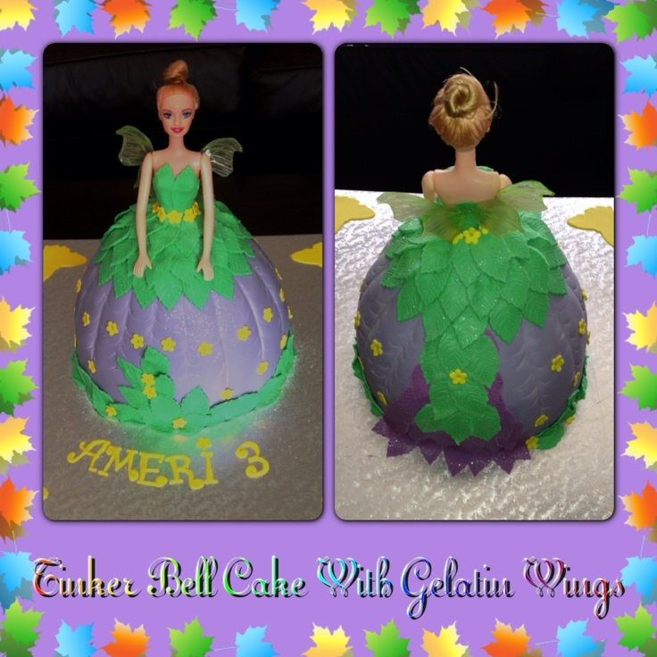 Tinker Bell Cake With Gelatin Wings