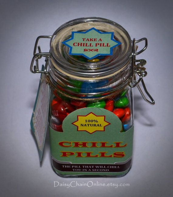 Best Gag Gift Chill Pill Funny Gift for by DaisyChainOnline