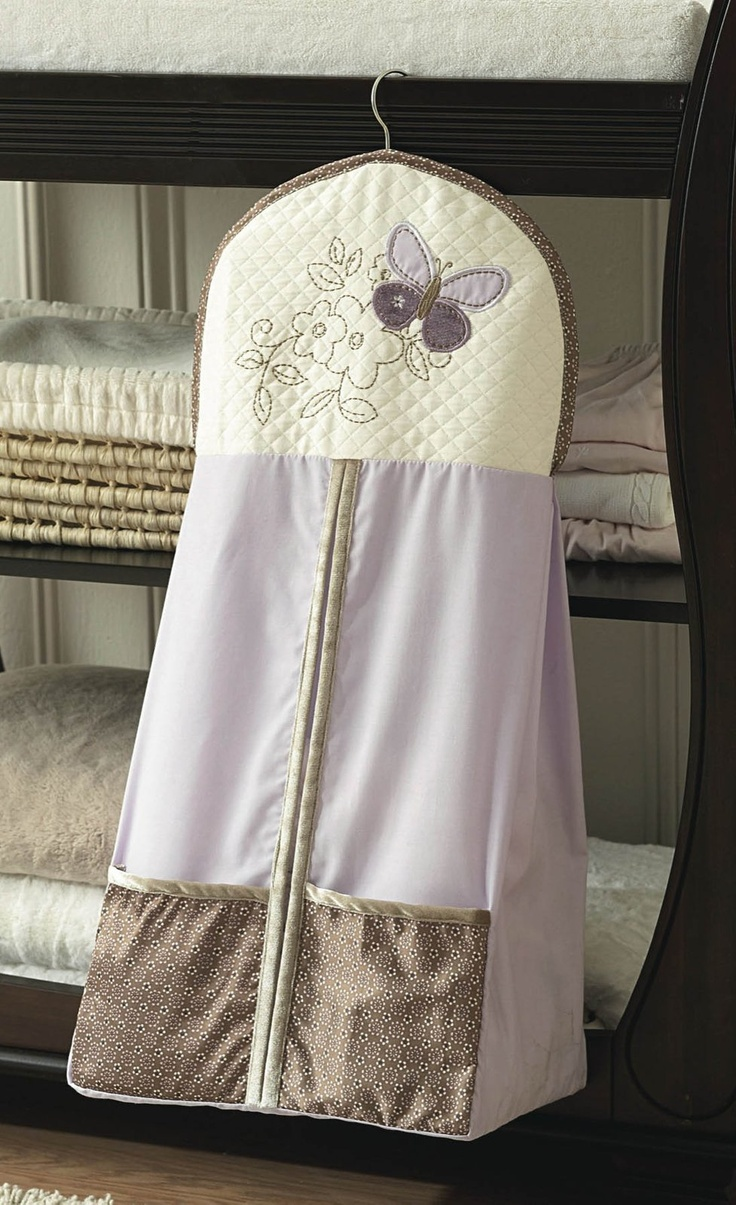 Carter's Garden Party- Diaper Stacker -- purple