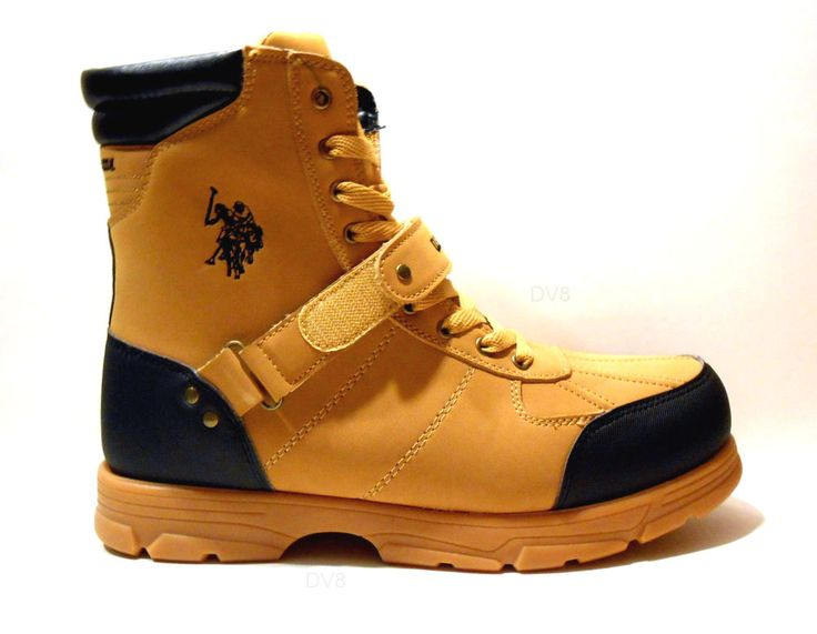 US Polo Assn Mens Boots Crusade 2 Hi Boots Color Wheat/Black New with Box    #USPoloAssn #CasualWorkBootStyleFashionBoots