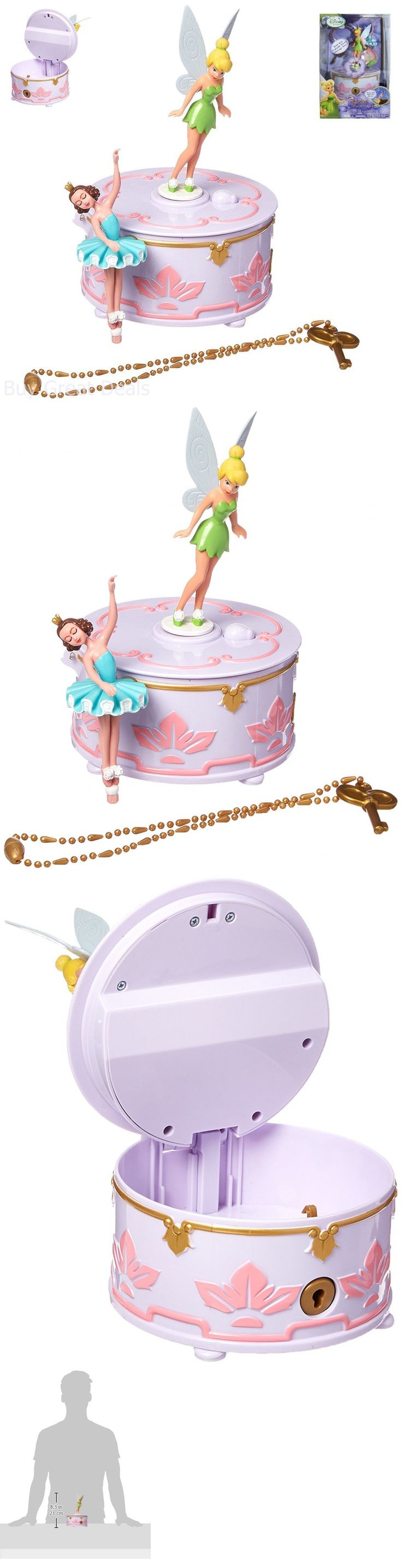 Tinker Bell Peter Pan 146041: Tinker Bell Music Box Ballerina Necklace Toy Decor Preschool Girls Set New -> BUY IT NOW ONLY: $122.09 on eBay!