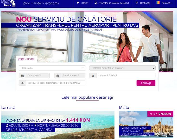 Wizz Tours ofera pachete de calatorie catre mai mult de 130 de destinatii si economii de 10-15% in medie fata de achizitia separata a transportului si hotelului