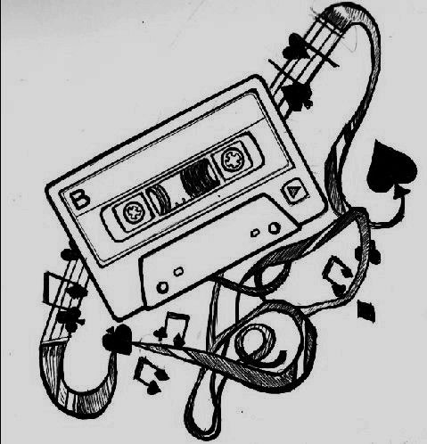 """tattoo"" by ~RadGurlToTheRescue (Mix tape, cassette tape, music tattoo)"