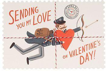 Sending Love Valentine Postcards