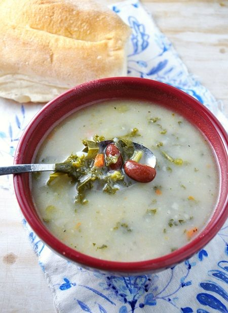 A Not-So-Traditional Portuguese Kale Soup #Recipe