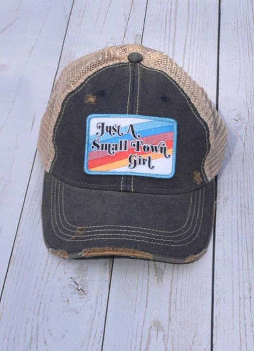 JUST A SMALL TOWN GIRL/STRIPPED PATCH NAVY