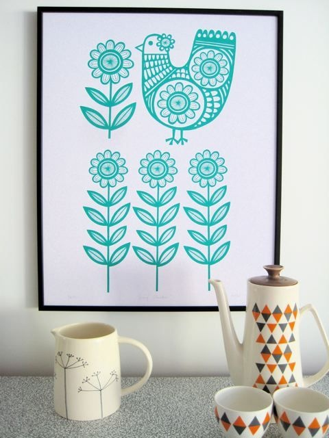 Swedish Chicken prints by http://www.janefoster.co.uk/ I have a weakness for Scandinavian design