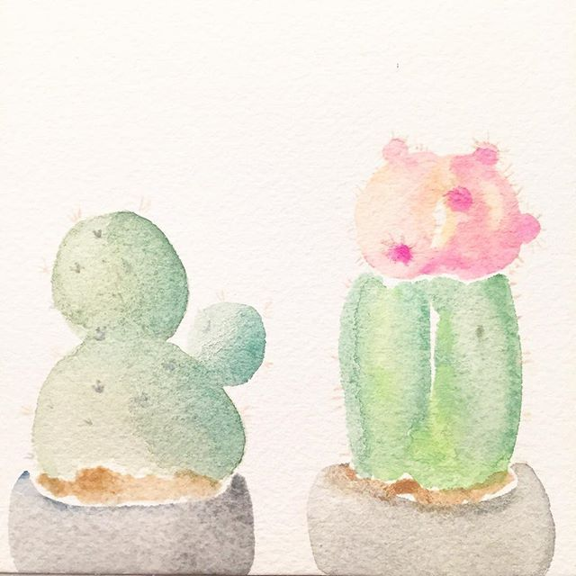 Got some new Arches watercolor paper and I LOVE it! Amazing what a difference a good paper makes. Here is a quick little painting of my current obsession: CACTUS 🌵 • • • #watercolor #watercolorpainting #archeswatercolorpaper #artistsloft #watercolorstudy #watercolorpractice #obsessedwithcacti #cactuslover #mycactusbabies