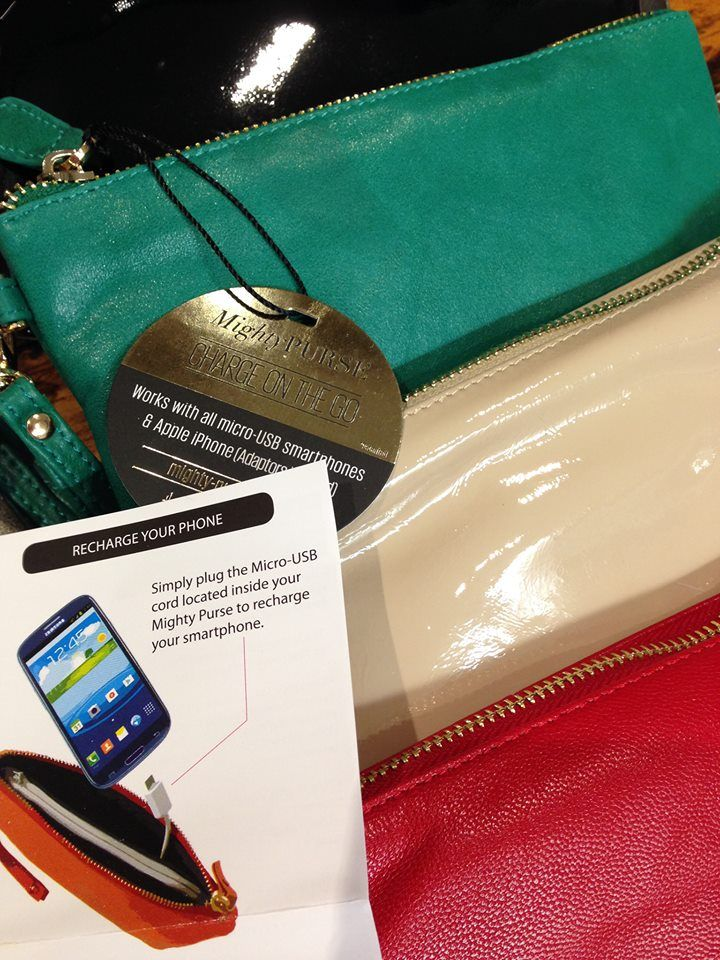 The 'Mighty Purse' keeps you looking chic while charging your phone on the go | $105 #QuirkyCowGifts