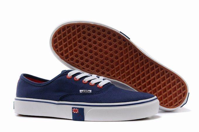 Vans Authentic New Zealand Flag Navy Blue Men's Shoes #Vans