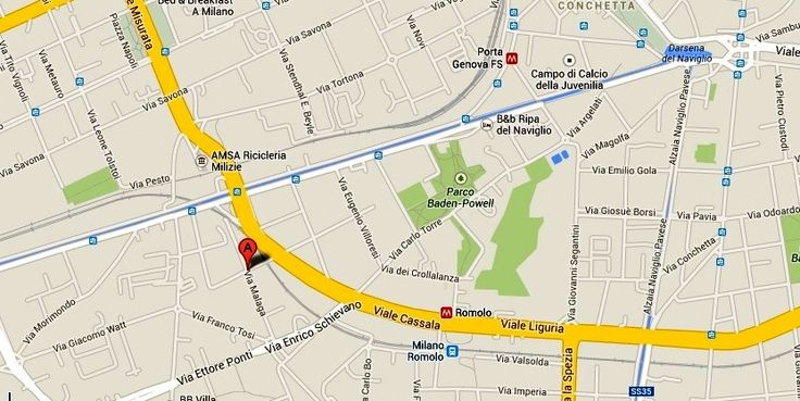 Tortona area,  just 10 minutes by foot away from Romolo metro stop (green line ), walking distance to Navigli area