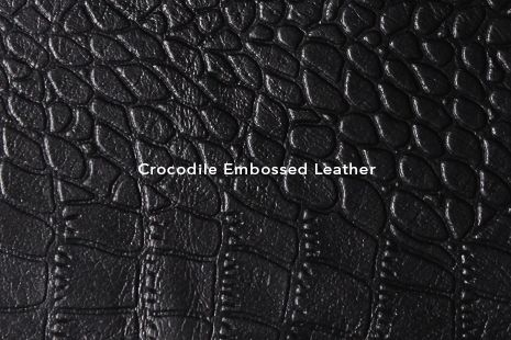 VIPARO - Types of Leathers - Crocodile embossed Leather