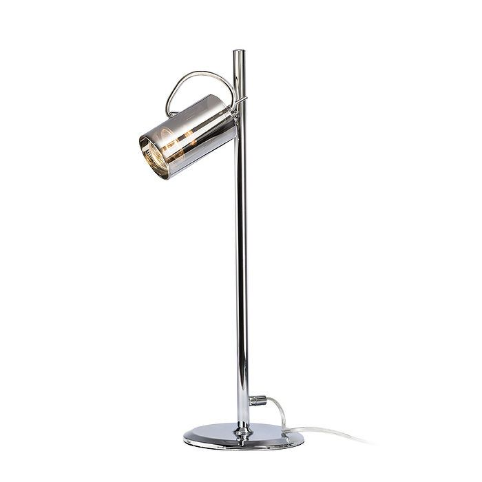 BUGSY TABLE | rendl light studio | Table lamp with a shade of glass. The shade is tiltable in one axis. #lamp #desk #design