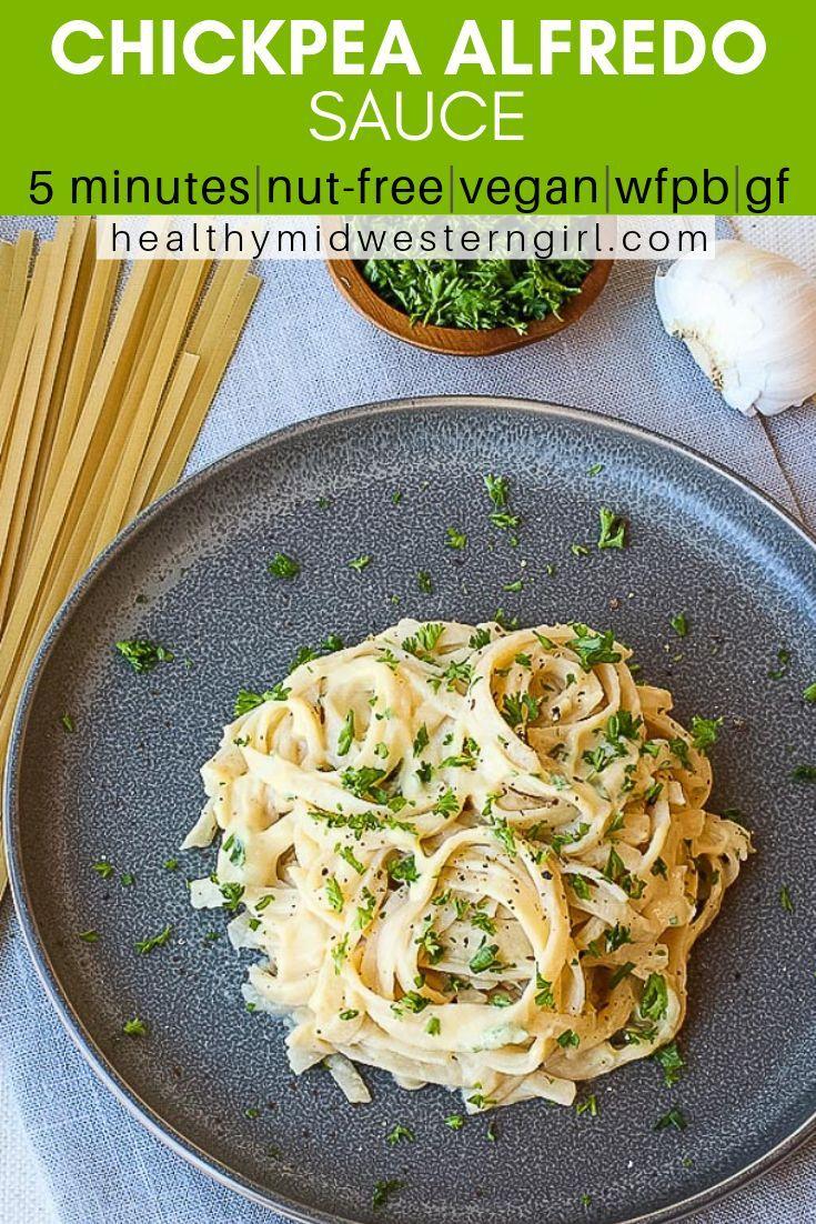 5 Minute Vegan Alfredo Sauce Recipe Vegan Alfredo Sauce Vegan Alfredo Food Recipes