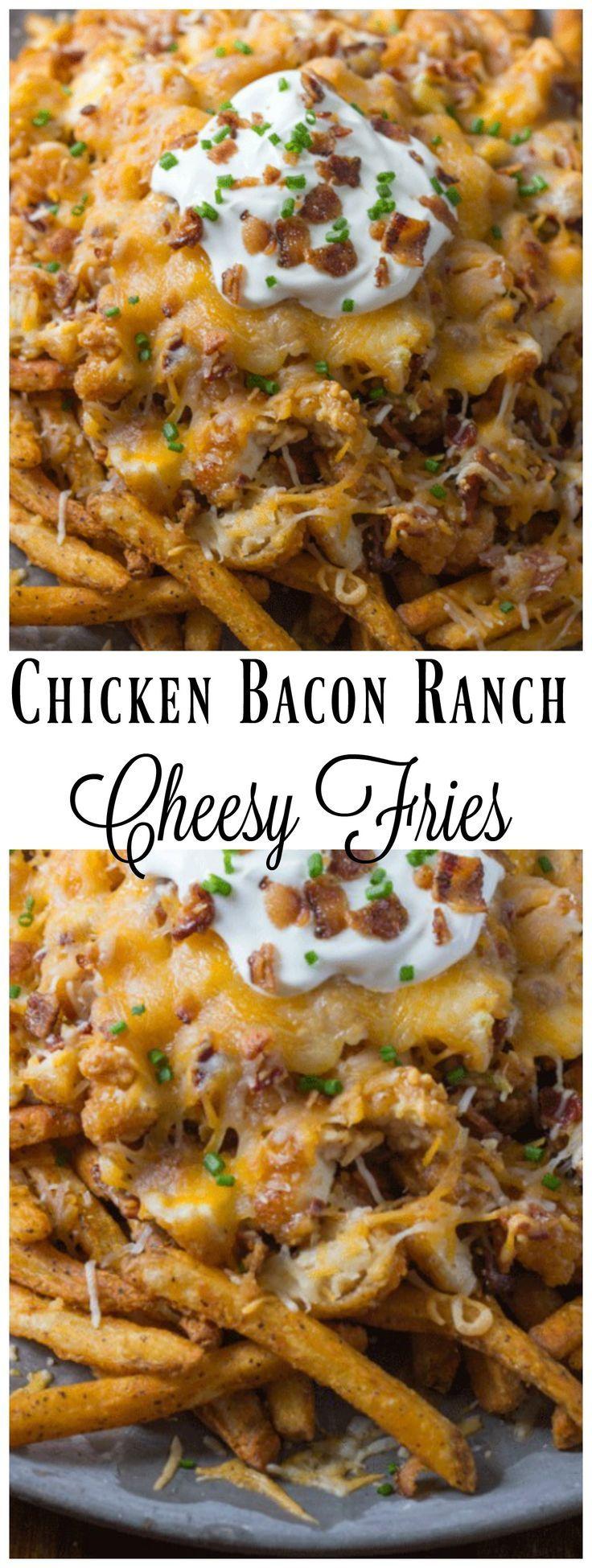 Chicken Bacon Ranch Cheesy Fries