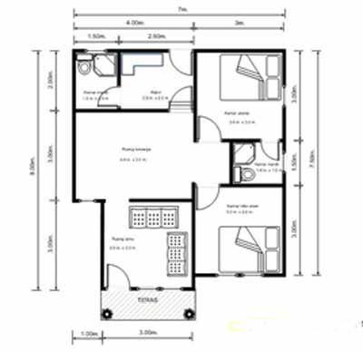 Rumah Minimalis Modern Type 72 - Rumah Minimalis