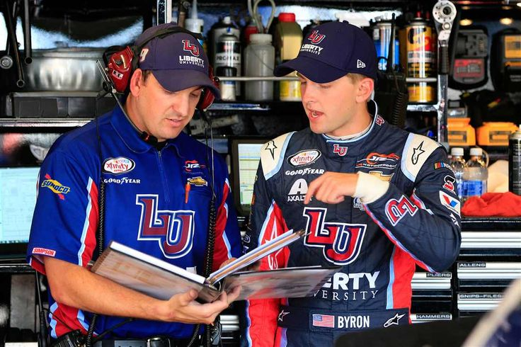 At-track photos: Pocono, Iowa Sunday, July 30, 2017 William Byron, driver of the No. 9 Liberty University Chevrolet, stands in the garage area during practice for the NASCAR XFINITY Series US Cellular 250 Presented by American Ethanol at Iowa Speedway on July 28, 2017 in Newton, Iowa. Photo Credit: Photo by Daniel Shirey/Getty Images Photo: 59 / 67