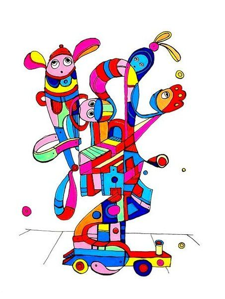Pylokraten IX von Etelka Kovacs-Koller - mad for art auf DaWanda.com