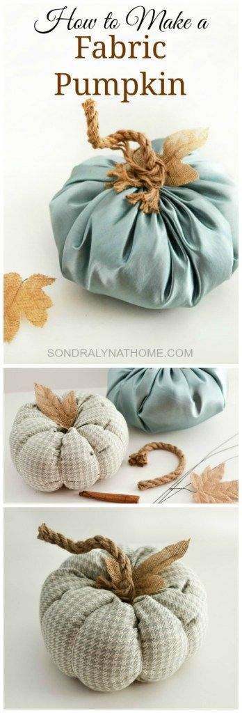 In this post I detail two ways to make gorgeous fabric pumpkins. Which way is best? You decide!!