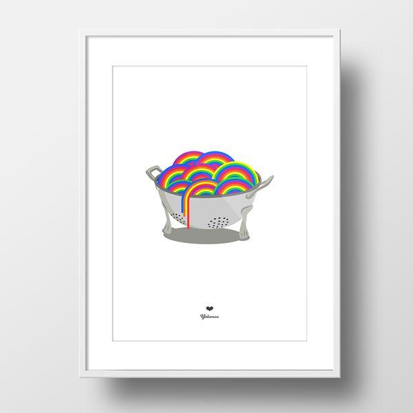 Rainbow pasta framed print framed print yislamoo yislamoo 2