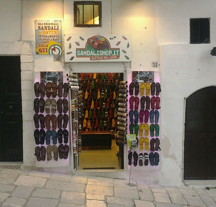 OSTUNI, SALENTO, PUGLIA, ITALY - Our Shoes Shop. Shopping on line ---> www.sandalishop.it
