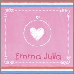 Kaartmix Geboortekaartjes roze krijt geboortekaartje birth announcements