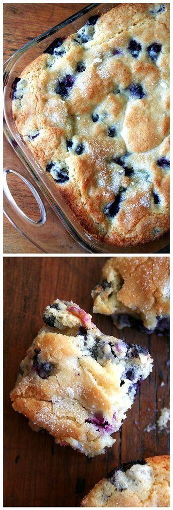 Buttermilk-Blueberry Breakfast Cake - great for feeding a crowd!